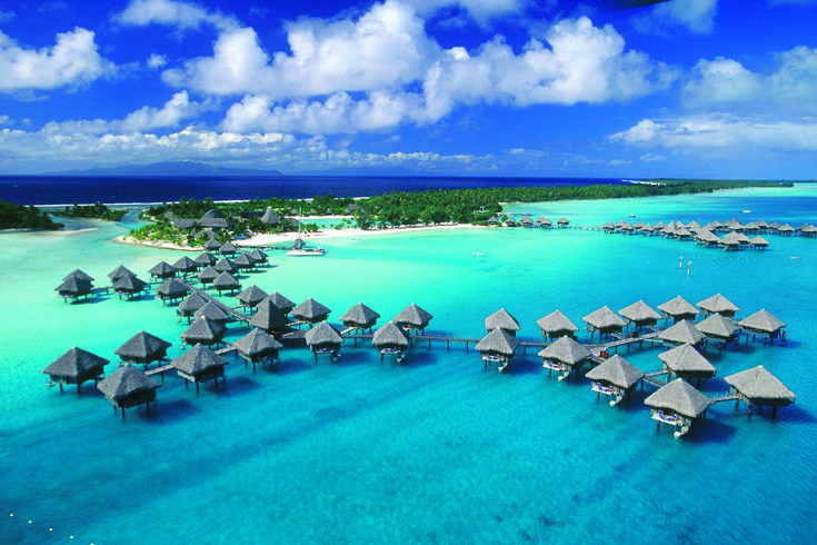 Bora Bora. Because who on earth doesn't want their own little hut out in the middle of the water?