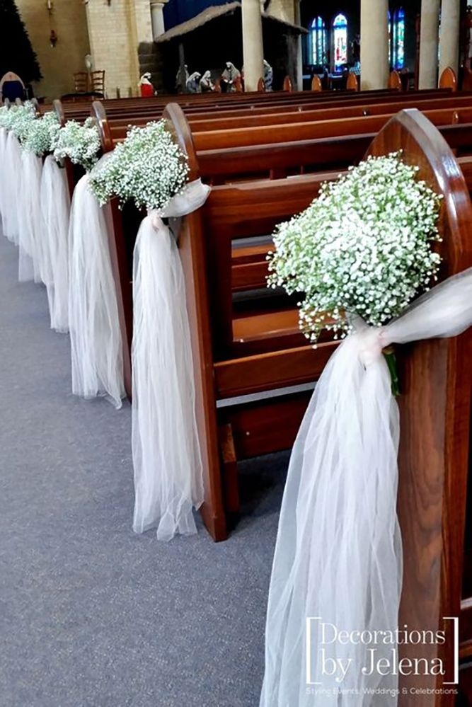 36 beautiful and breathtaking church wedding decorations - Church Decorations