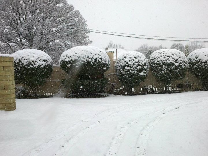 Let it snow let it snow let it snow... South Africa De Oude Huize