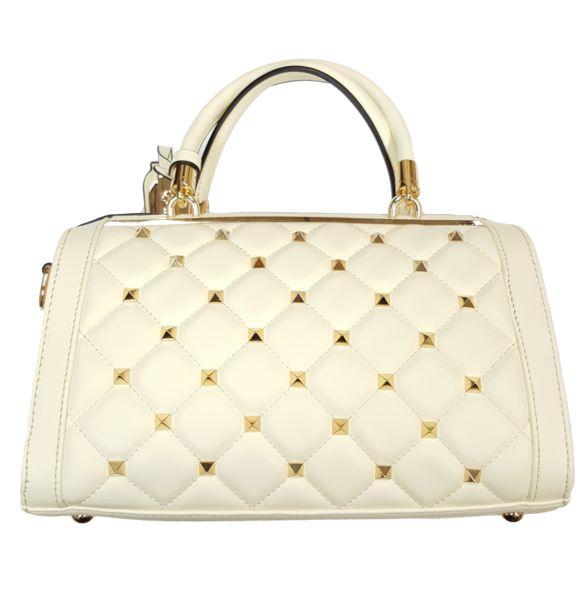 $79.99 - Brangio Italian Premium Leather Gold Studded Handbag
