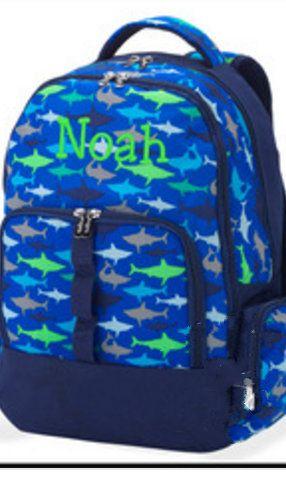 05fcee6def Monogrammed Boys Backpack - Personalized School Boys Back Pack - Book Bag - Kid  Back Pack - Personalized Backpack for boys by MJMonograms on Etsy