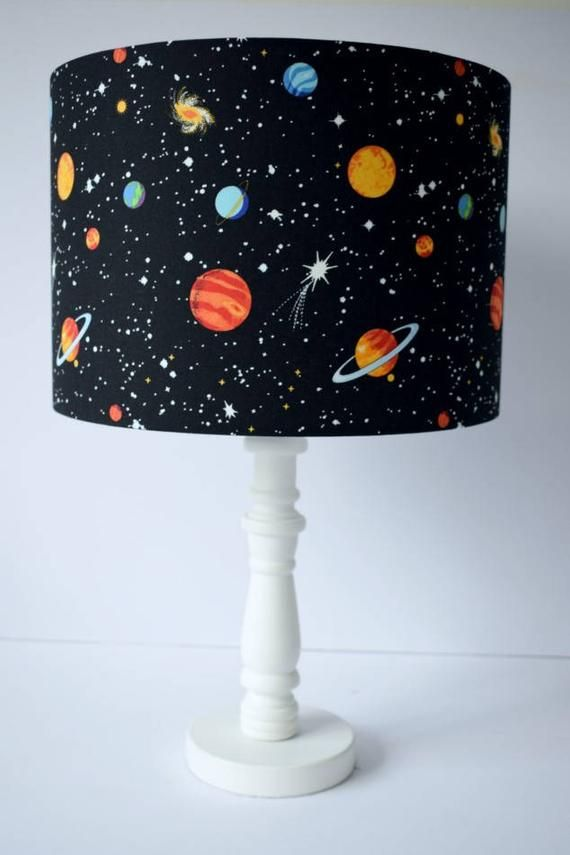 Planet Lampshade E Nursery Decor Lighting Glow In The