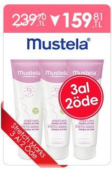 Mustela Stretch Marks Double Action 3 Al 2 Öde  Hamilelik'te çatlaklardan korunun. http://www.dermoeczanem.com/mustela-stretch-marks-double-action-al-2-ode-x150ml-