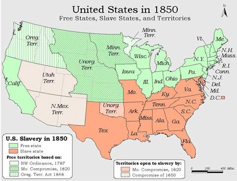 Compromise Of 1850 Wikipedia Us American Map Globalinterco The