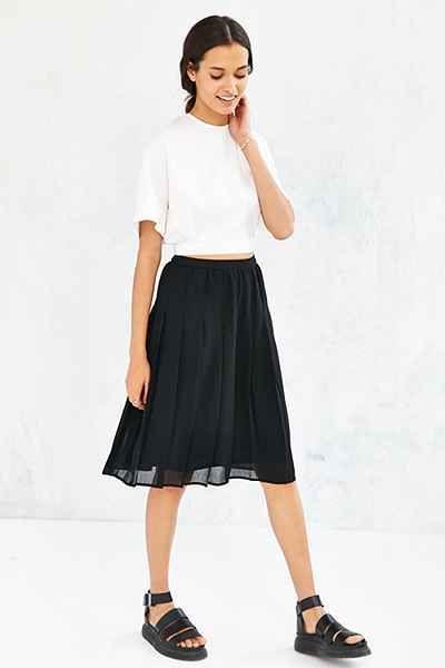 COPE Pleated Midi Skirt