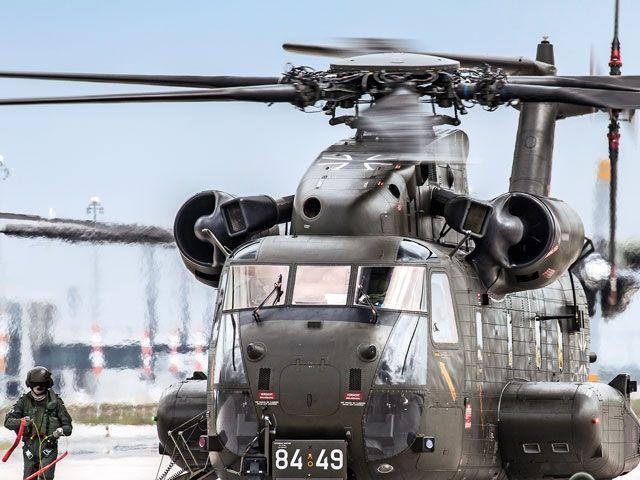 Ankunft der CH-53 aus Holzdorf (Quelle: Bundeswehr/Oberfeldwebel Joachim Unger)