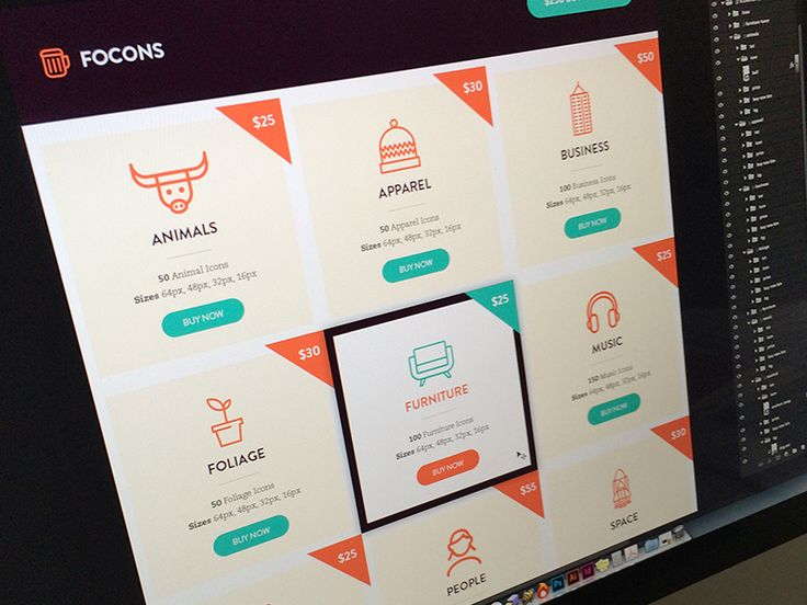Been working this week with @Bill S Kenney @Matt Yow @Jonathan Howell and @Rocky Roark on some cool icon sets for @Focus Lab. This is the first pass at the site where we will be selling them. Logo ...