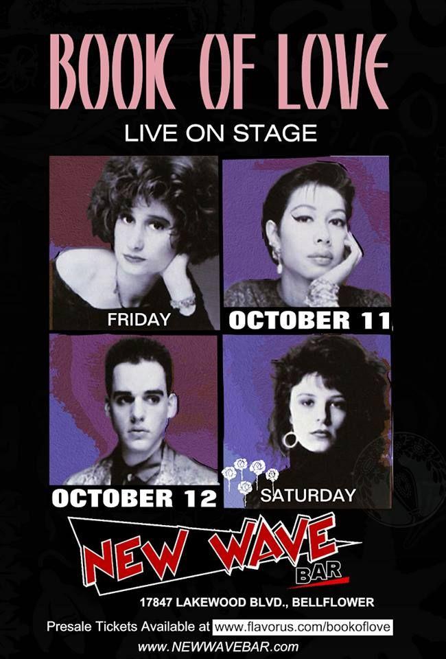 Poster oficial - BOOK OF LOVE - 11 e 12 de Outubro de 2013 - New Wave Bar - California