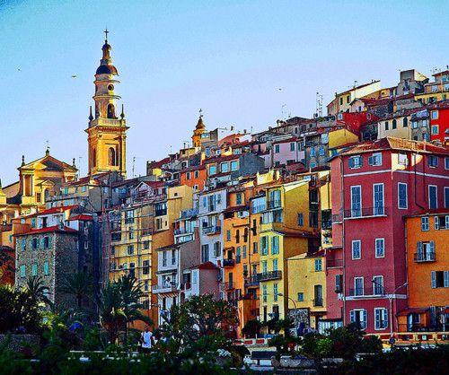 Menton, France.: Favorite Places, Travel Photos, Color, Beautiful Building, Honeymoons Locations, Places I D, Menton France, Random Pin, French Riviera