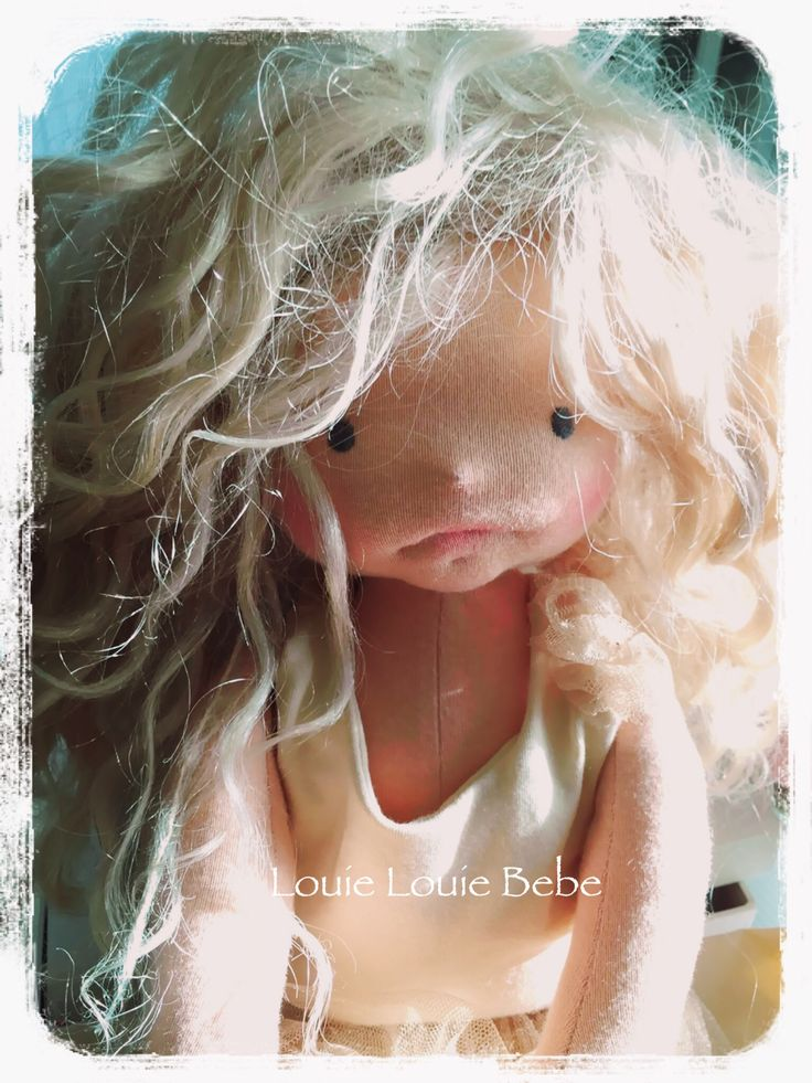 All dressed up and nowhere to go. Waldorf cloth Art doll by Louie Louie Bebe