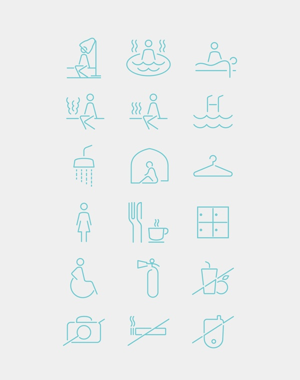 Spa Iconography System by Emech Zeinali, via Behance