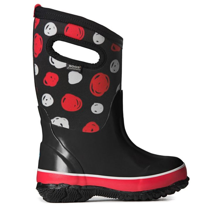 Bogs Kids' Sketched Dot Winter Boot Toddler/Pre/Grade School Boots (Black Multi)