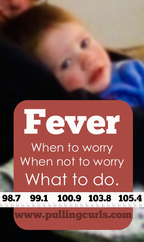 Children's fevers can be really scary for moms. Here's what to do, and what to watch for. #pullingcurls