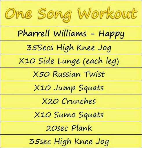 Song workout to happy