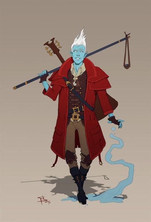 [ART] Water Genasi Druid : DnD