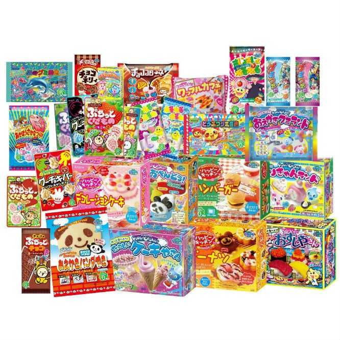 This is a complete set of Popin Cookin DIY candy making kits and you will save US$31.50! This kit includes: Popin Cookin Sushi Popin Cookin Bento Popin Cookin F
