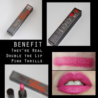 MichelaIsMyName: BENEFIT They're Real Double the Lip Pink Thrills R...