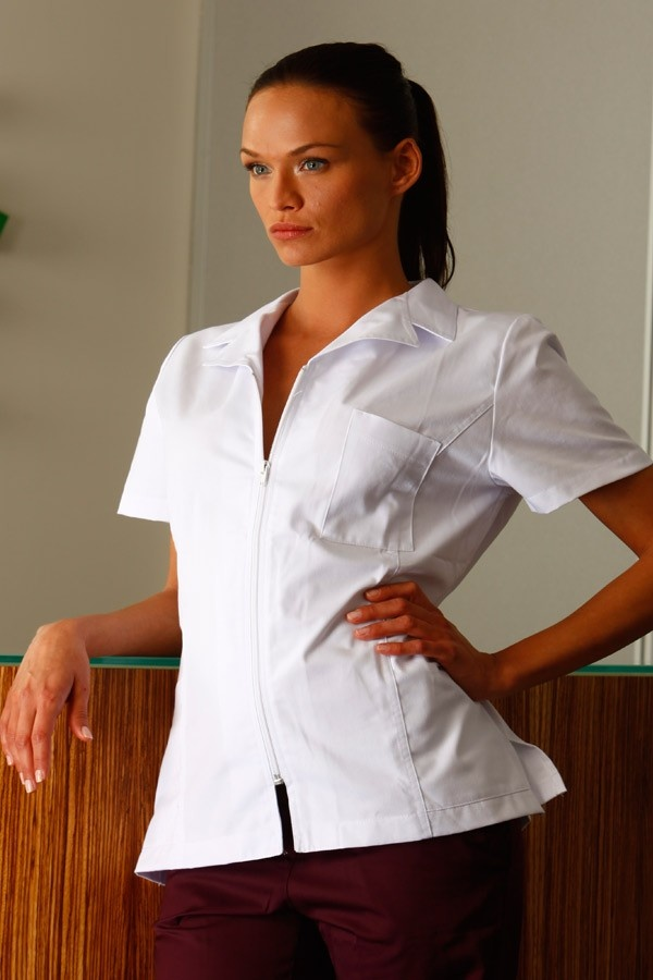 blouse mdicale cintre fermeture zippe mankaa collection 2012 2486 mankaia - Blouses Medicales Colores