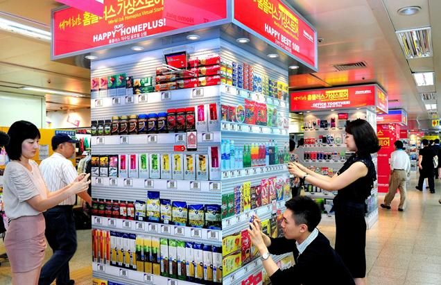 The new face of shopping expands! Virtual buying with Tesco in Korea