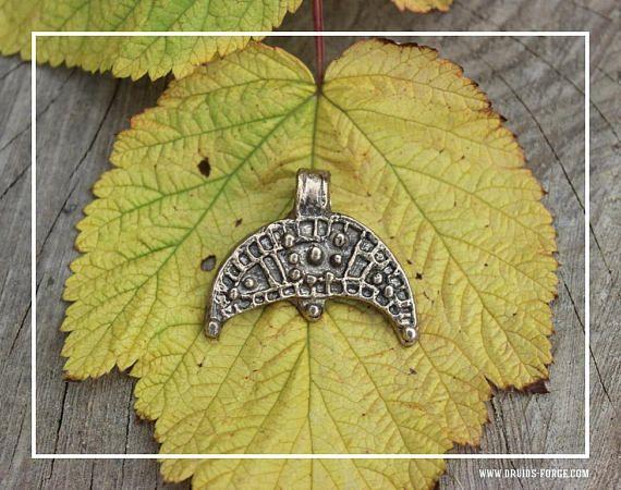 Lunula Slavic bronze pagan pendant magic and protect charm