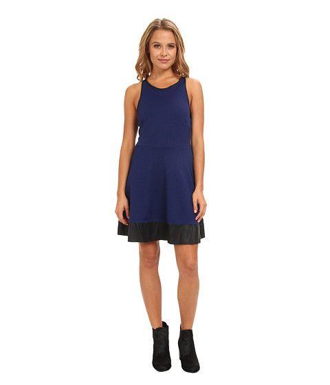 Skater blue dress