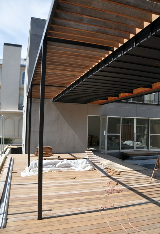 Modern Trellis Brise Soleil Arquitectura Wood