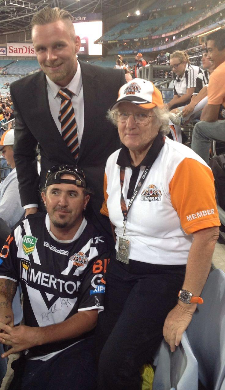 ANZ Stadium Sydney, Blake Austin, Shaun Sanders, Carmel Rohl 14.03.2014