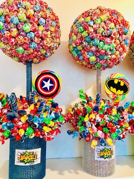 edible candy centerpiece lollipop tree candy buffet communion rh pinterest com