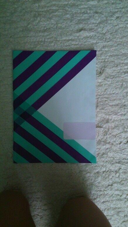 Diy washi tapes notebook