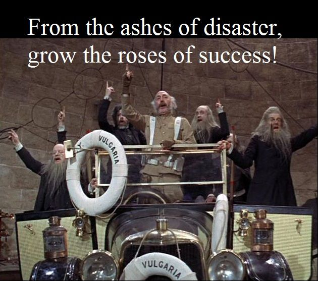Chitty Chitty Bang Bang. From the ashes of disaster, grow the roses of success!