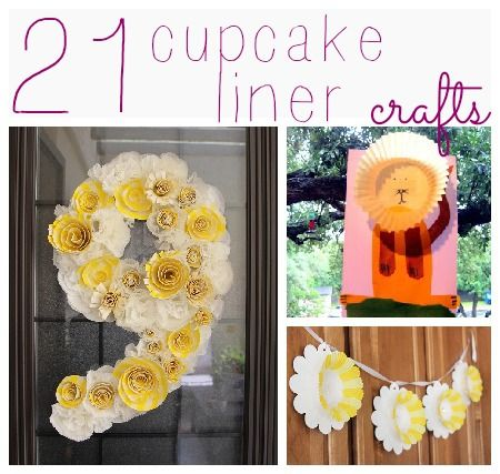 Lots of really cute cupcake liner crafts @Jamie Dorobek {C.R.A.F.T.}