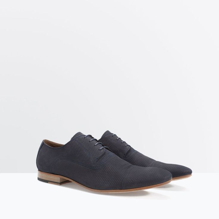 Image 2 of LEATHER BROGUE from Zara