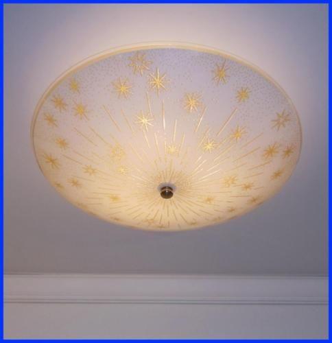 Grande-15-Vintage-meados-seculo-moderno-Mcm-Atomic-STARBURST-Luminaria-De-Teto