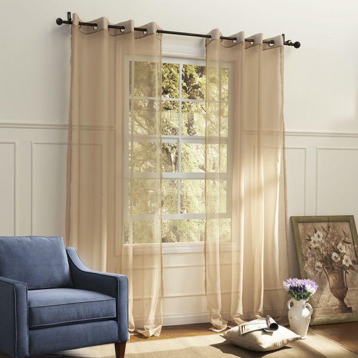 Country Elegant Beige Solid Eco-friendly Sheer Curtain   #curtains #decor #homedecor #homeinterior #beige