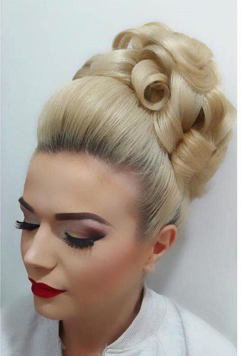 Opinion long hair updo bouffant fetish for the