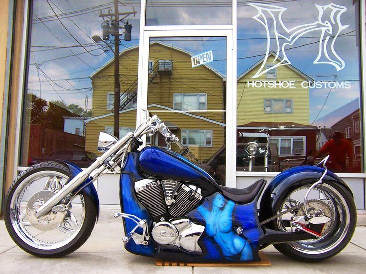 custom air ride honda shadow