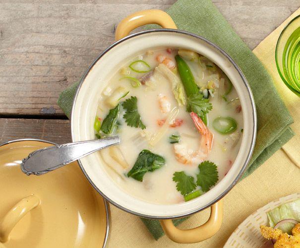 Recept: Kokossoep met rijst en garnalen | Gezond Eten Magazine