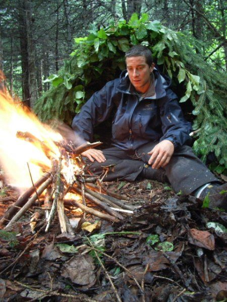 Bear Grylls on Man vs. Wild.  Found this pic on imd.com