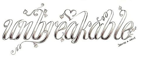 "I love & want something like thís! ♥ ""unbreakable"" Tattoo Design by Denise A. Wells"