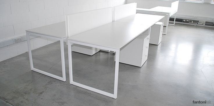 Framework white single office desk