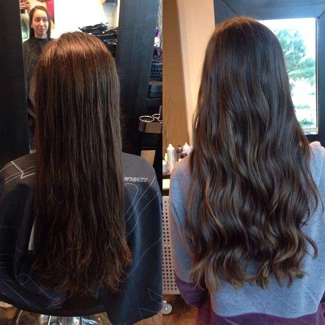 Subtle balayage for Amy. She's never coloured her hair before so it was the perfect way to start.  #crimsonhairsalon #Crimson #kelownastylist #kelownanow #balayage #curls #okanagan #hairstylist #joico #kevinmurphy