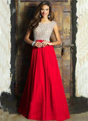 32460 Chiffon vestido sem mangas abrir voltar Formal longo vermelho vestidos de manga azul vestidos de festa 2015 em Vestidos de Noite de Casamentos e Eventos no AliExpress.com | Alibaba Group