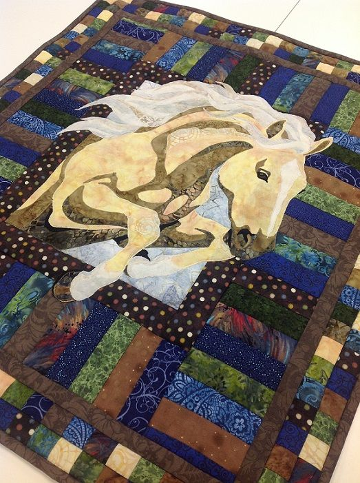 Katie's Quilted Horse Applique Wall-hanging for her mom  (Christmas 2012)