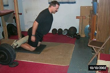 Here is an homemade GHR option – The Floor Glute-Ham Raise You'll need: a barbell with enough weights a towel padding for your knees