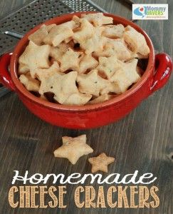 Homemade Cheese Crackers Recipe   Mommysavers.com