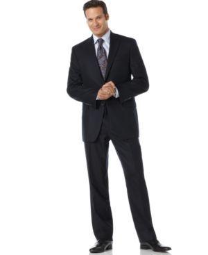 Lauren by Ralph Lauren Suit Total Comfort 2-Button Navy Wool Men Men's Clothing - Suits & Suit Separates'