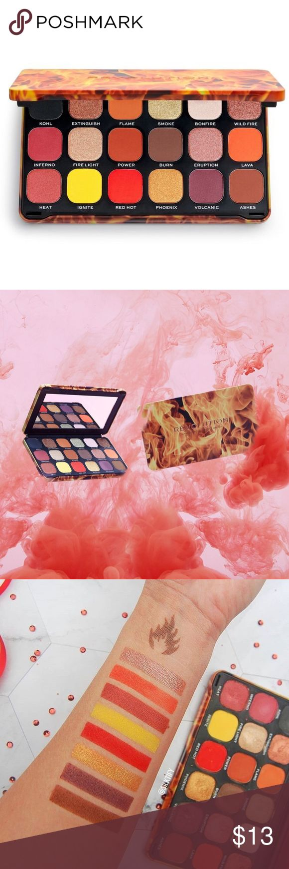 Makeup Revolution Forever Flawless Fire Palette 🔥 Makeup