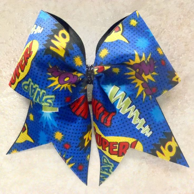 Super+Hero+Cheer+Bow+by+cheerbowsandarrows+on+Etsy,+$10.00