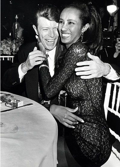 David Bowie and Iman  One of the most iconic fashion-music matches, they were set up on a blind date in 1990 after her second and his first marriage ended. Iman says she knew two weeks into the relationship that he was the one when he greeted her at the airport with flowers, surrounded by fans and cameras, and no security. They married two years later in Switzerland and have one daughter, born in 2000.