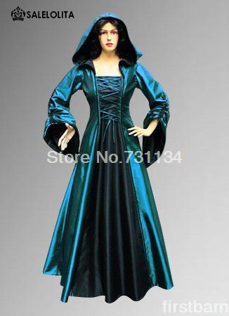 Хэллоуин синий с короткими рукавами Готический Викторианской платье, викторианский костюмы продажа Бесплатная Доставкакупить в магазине Salelolita Fashion Online ShopнаAliExpress